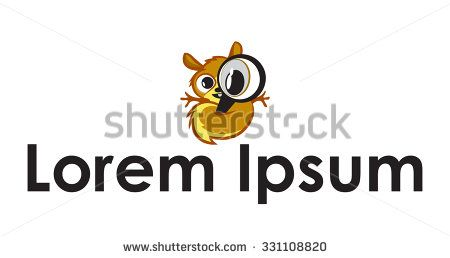Cute and fluffy animal holding a magnifying glass