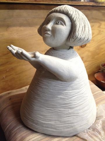 The Gift, ceramic, pre-firing