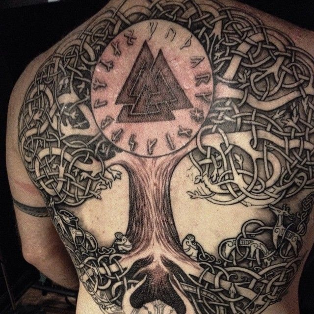 Norse Tree Tattoo Norse Tree of Life in Progress