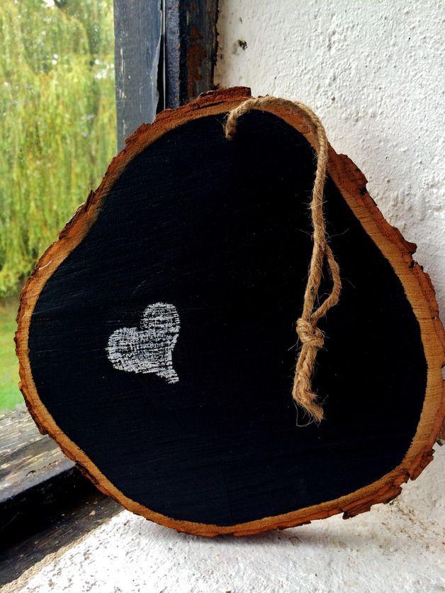 Pinnwände - Tafel auf Holzscheibe - ein Designerstück von Streublumen bei DaWanda
