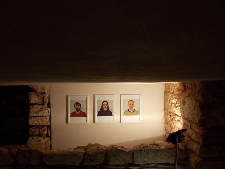 dubbio pastelli ad olio su carta,2017 in mostra presso MAAAC. Lisa Cutrino.