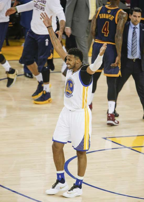 Golden State Warriors' Leandro Barbosa tries to get the crowd into the act in the second quarter during Game 1 of the NBA Finals at Oracle Arena on Thursday, June 2, 2016 in Oakland, Calif.