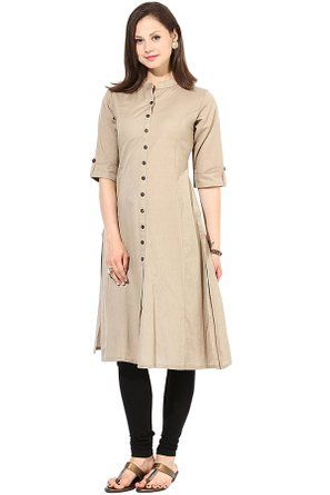 Saiveera Fashion Latest Cream Cotton Long Casual Kurti_SV-1625 (Large) Saiveera Fashion is a Popular brand in Women's Clothing. Saiveera Fashion is produce many types of Women's Clothes like Anarkalis Salwar Suit, Patialas Salwar Suit, Straight Salwar Suit, Palazzos, Sarees, Churidars, etc. For any Query Contact/Whatsapp on +91-8469103344.