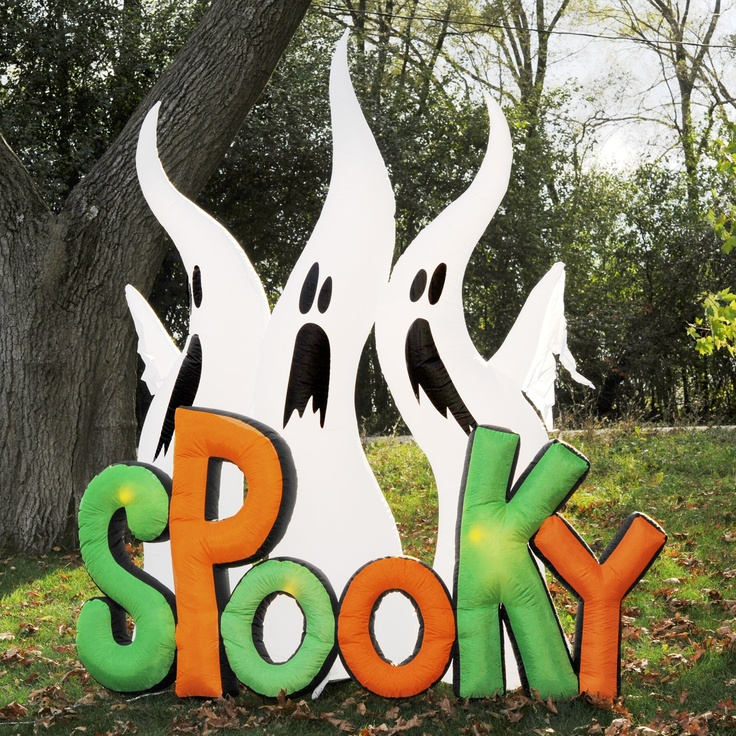 inflatable halloween decorations airblown spooky ghost trio