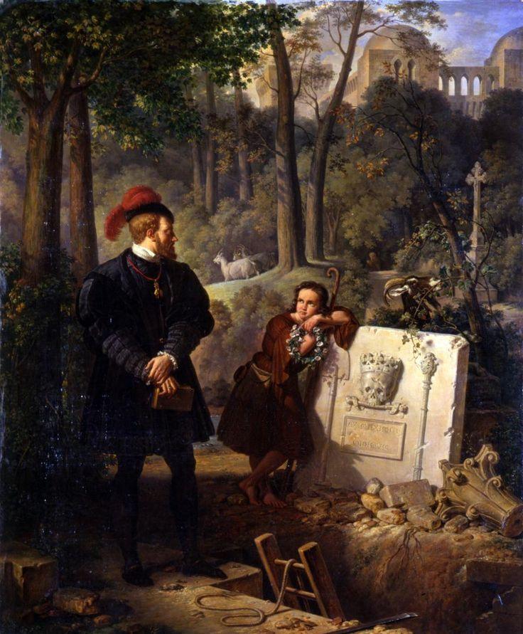 """Pierre-Henri Revoil (1776-1842) """"Charles Quint à Yuste"""", 1836 Avignon, Musée Calvet"""