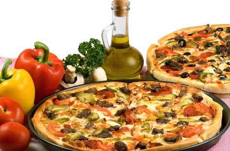 Mediterranean vegetable pizza hero