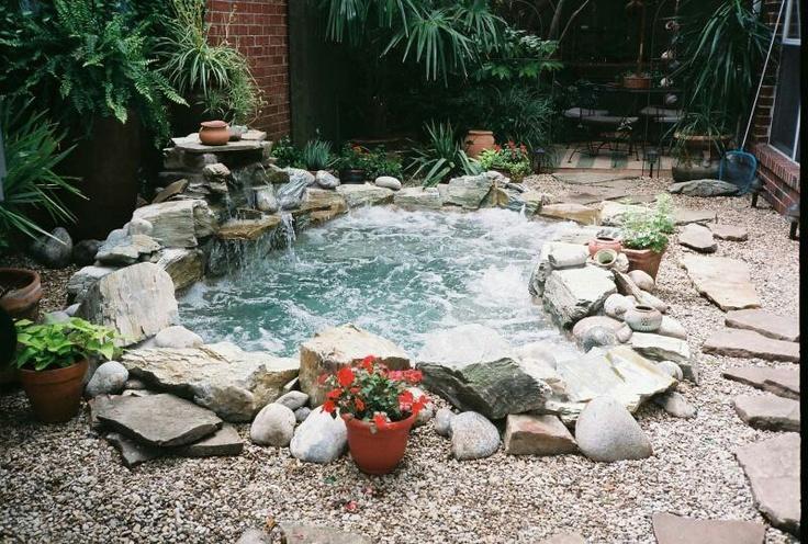 Inground hot tub