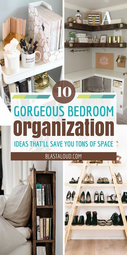 Great list of bedroom organization ideas for small bedrooms! #organization # organize #organizationideas #bedroom #declutter