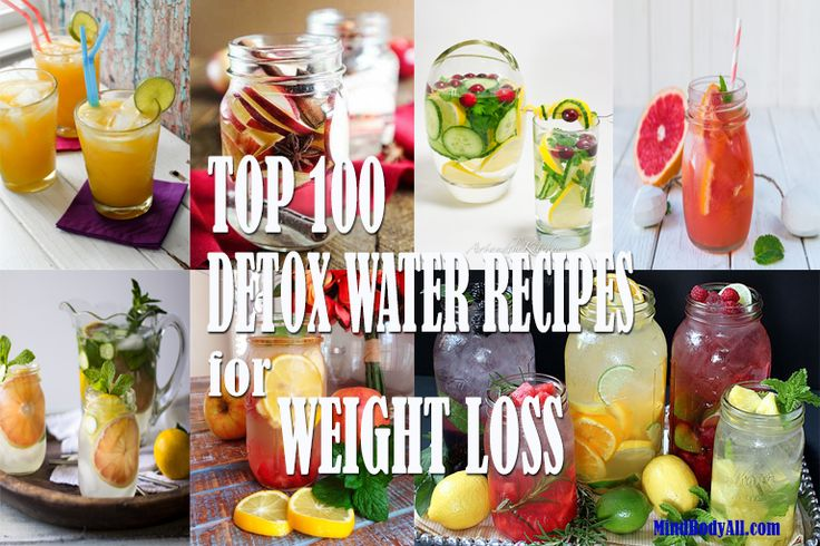 Top 100 Detox Water Recipes for Weight Loss