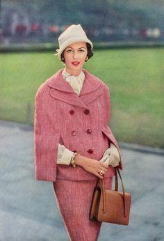 Vogue editorial shot by Frances McLaughlin 1957