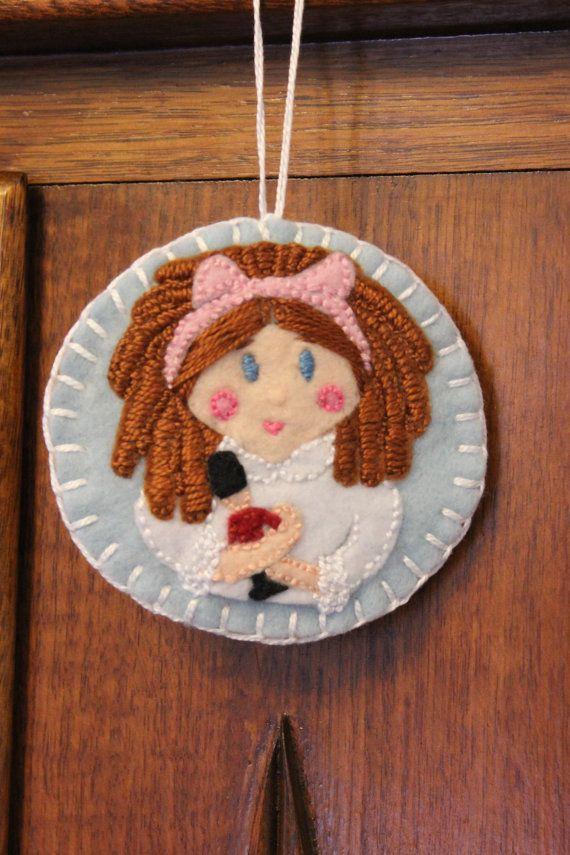 Clara  Nutcracker Felt Ornament by PuddleducklaneAgain on Etsy