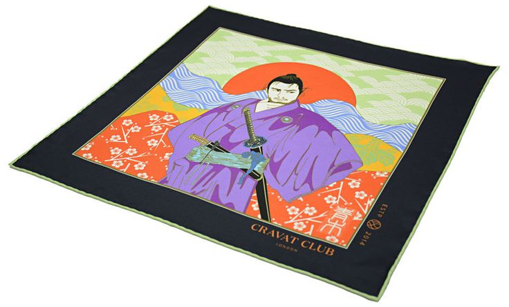 SANJURO Printed Silk Pocket Square  #samurai #sanjuro #sevensamurai #samuraimovie #movie #mifune #ukiyoe #woodblock #print #japanese #japan #pocketsquare #pocketsquares #pocket #square #silk #square #madeinengland #british #buybritish #silkpocketsquare #handkerchief #menswear #mens #accessories #mensfashion #fashion