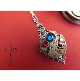 Medal Honor Service Medallion Steampunk Necklace Steampunk Jewelry Steamretro