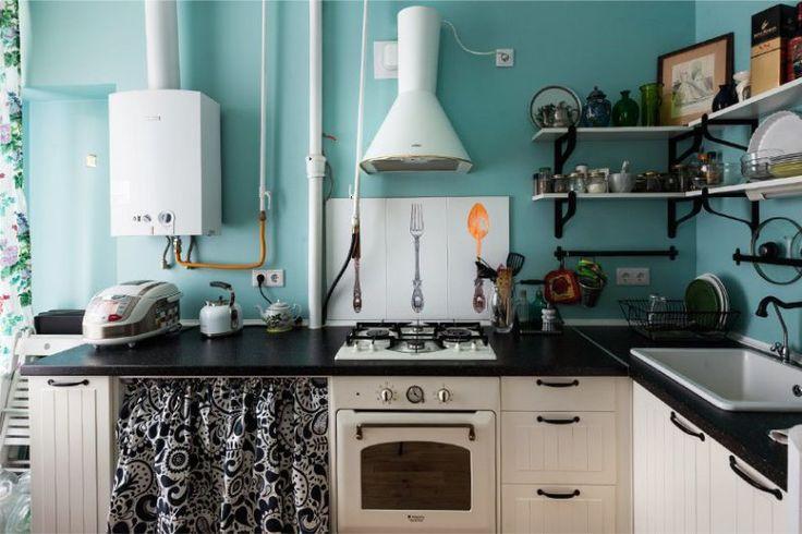 Техника в стиле ретро в интерьере кухни в стиле прованс