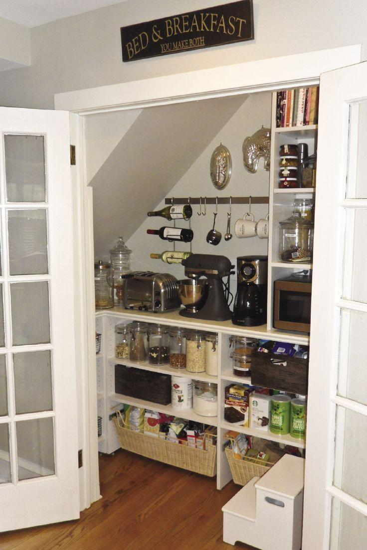 Raumfachleute Teilen Grosse Ideen Fur Kleine Raume Pantry Design Under Stairs Pantry Kitchen Pantry Design