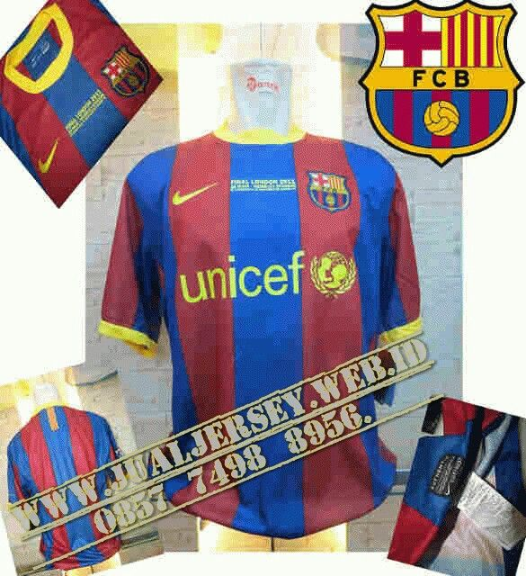 Jersey Retro Barcelona Final UCL London 2011
