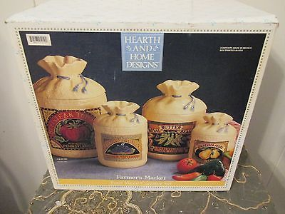 Best 25 burlap sacks ideas only on pinterest coffee for Hearth and home designs canister set