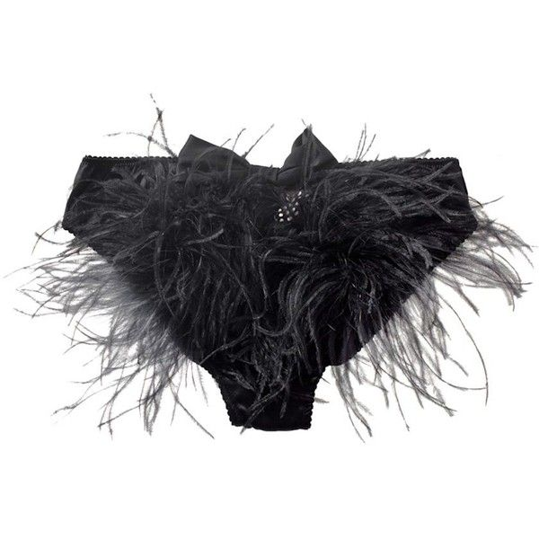 Myla Darcey Feather Bustle Back Knicker (5 020 UAH) ❤ liked on Polyvore featuring intimates, panties, lingerie, burlesque, underwear, women, myla lingerie, silk lingerie, underwear lingerie and silk knickers