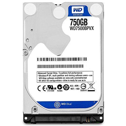 """WD Blue 2.5"""" 9.5mm Disque dur interne 750 Go 5400 RPM 8 Mo  (WD7500BPVX - bulk) Western Digital http://www.amazon.fr/dp/B00C9TEC0Y/ref=cm_sw_r_pi_dp_qDHiwb16W3NZM"""