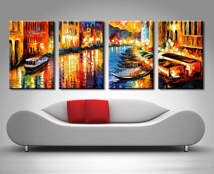 4 Panel Canvas Wall Art