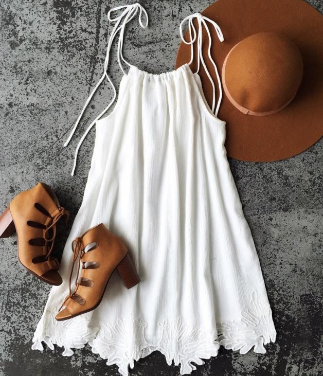 Embroidered Swing Dress - Trendslove