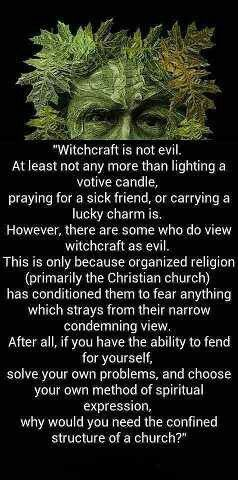 Witchcraft is not evil  #wicca #pagan                                                                                                                                                                                 More