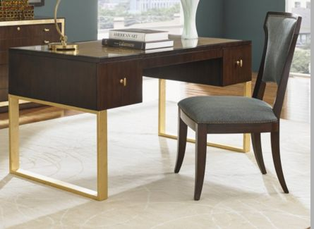 Lovely Little Writing Desk. Love The Gold Details. If You Have Limited  Space And