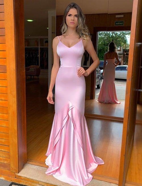 Vestido rosa para madrinha 2019 : 35 longos! | Vestido de festa longo / Gown | Prom dresses, Dresses, Formal dresses