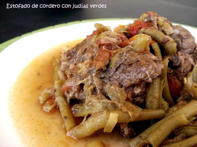 Cocinax2. Las recetas de Laurita.: Estofado de cordero con judías verdes y tinto dulce Listón