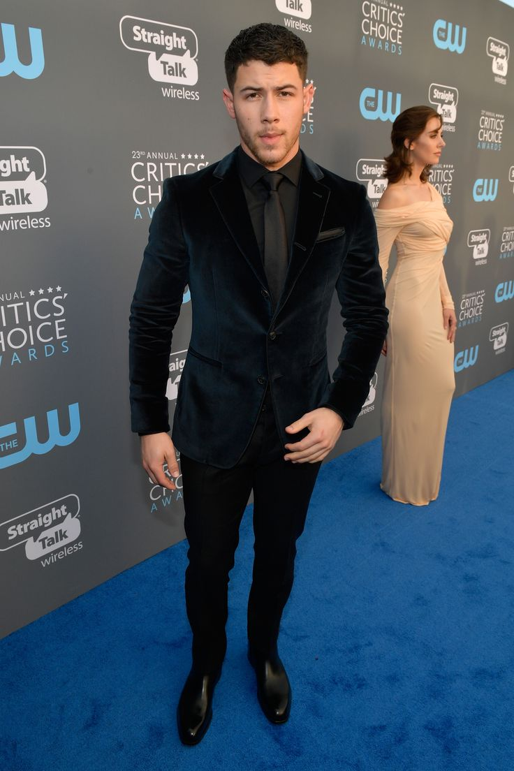 SANTA MONICA, CA - JANUARY 11:  Actor Nick Jonas attends The 23rd Annual Critics' Choice Awards at Barker Hangar on January 11, 2018 in Santa Monica, California.  (Photo by Matt Winkelmeyer/Getty Images for The Critics' Choice Awards  ) via @AOL_Lifestyle Read more: https://www.aol.com/article/entertainment/2018/01/11/critics-choice-awards-2018-the-complete-winners-list/23331425/?a_dgi=aolshare_pinterest#fullscreen