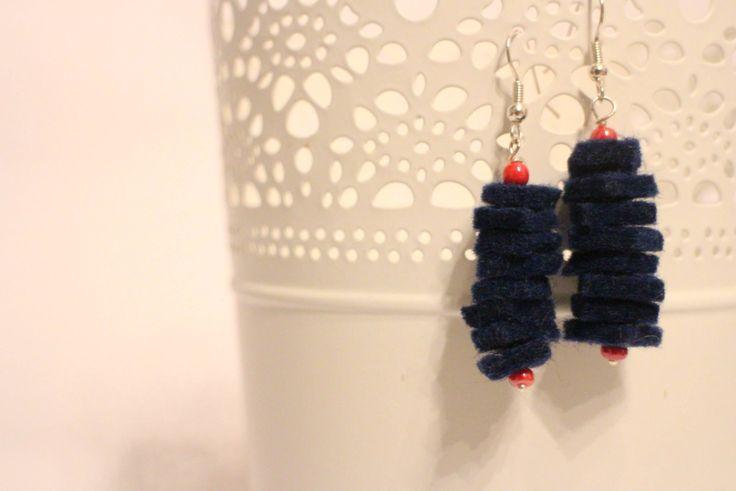 Orecchini in feltro blue