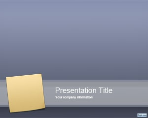Free Sticky Note PowerPoint template background is a free post it template design for presentations