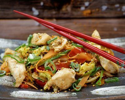 Wok de poulet au chou chinois