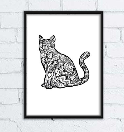 Kot imieniem Janusz. Grafika A3