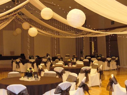 This is how I want to set up the stake center for my reception. (The ceiling and walls)
