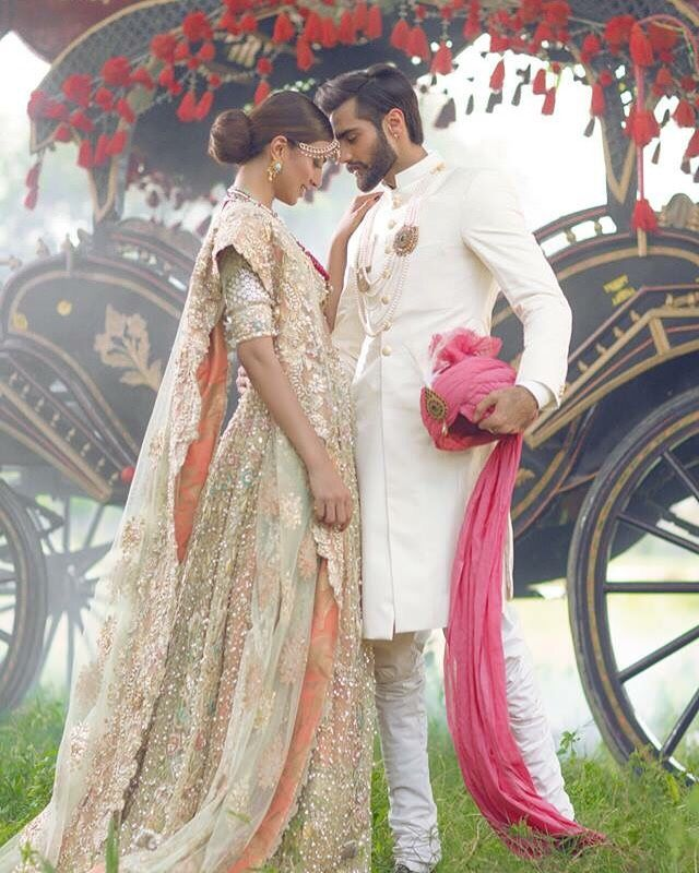 Pakistani Designer: The Jasmine Court by Elan Photographer: Abdullah Harris Models: Rabia Butt & Hasnain Lehri
