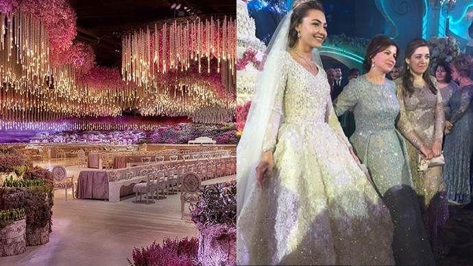 This Is What A One Billion Dollar Wedding Looks Like Wedding Looks Extravagant Wedding Silver Wedding Gowns