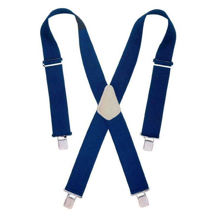 Custom Leathercraft 2 in. Wide Blue Work Suspenders - 2754-0095