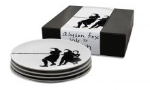 Tug by Alyson Fox for Ink Dish. 4 piece side plate gift set $56