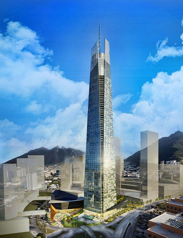 Torre Insignia, Monterrey-Mexico, 330 m, proposed 2013, architect-HKS Architects