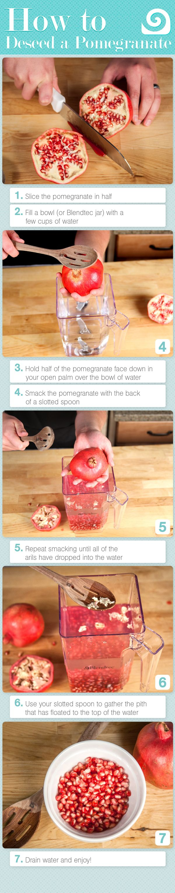 How to deseed a pomegranate!