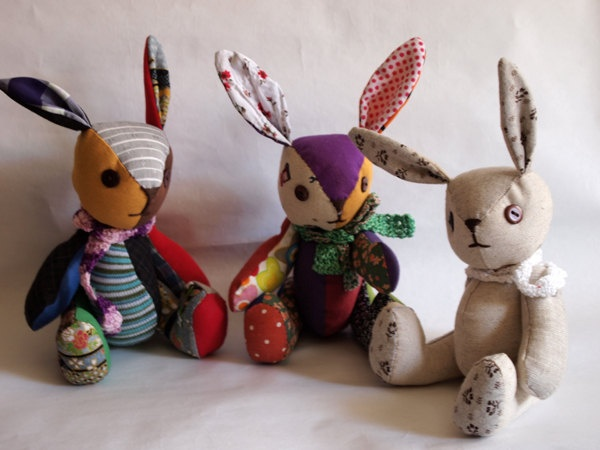 I do love a good toy, these patchwork bunnies are beautiful to look at, look fun to play with and are ever inspiring.