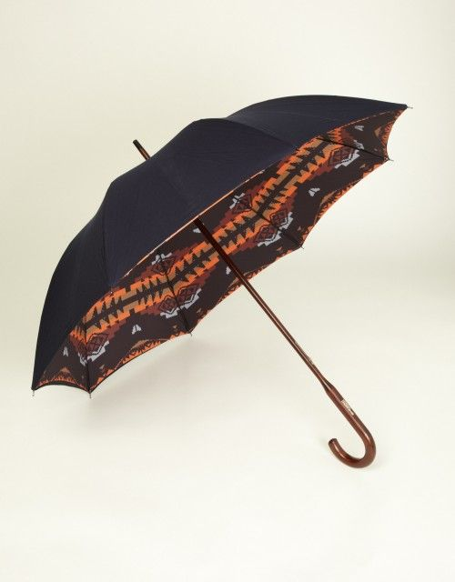 Navajo Umbrella (navy / navajo internal print)