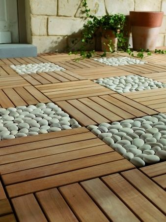 Dalles galets jardin et balcon pinterest photos for Galet pour decoration jardin