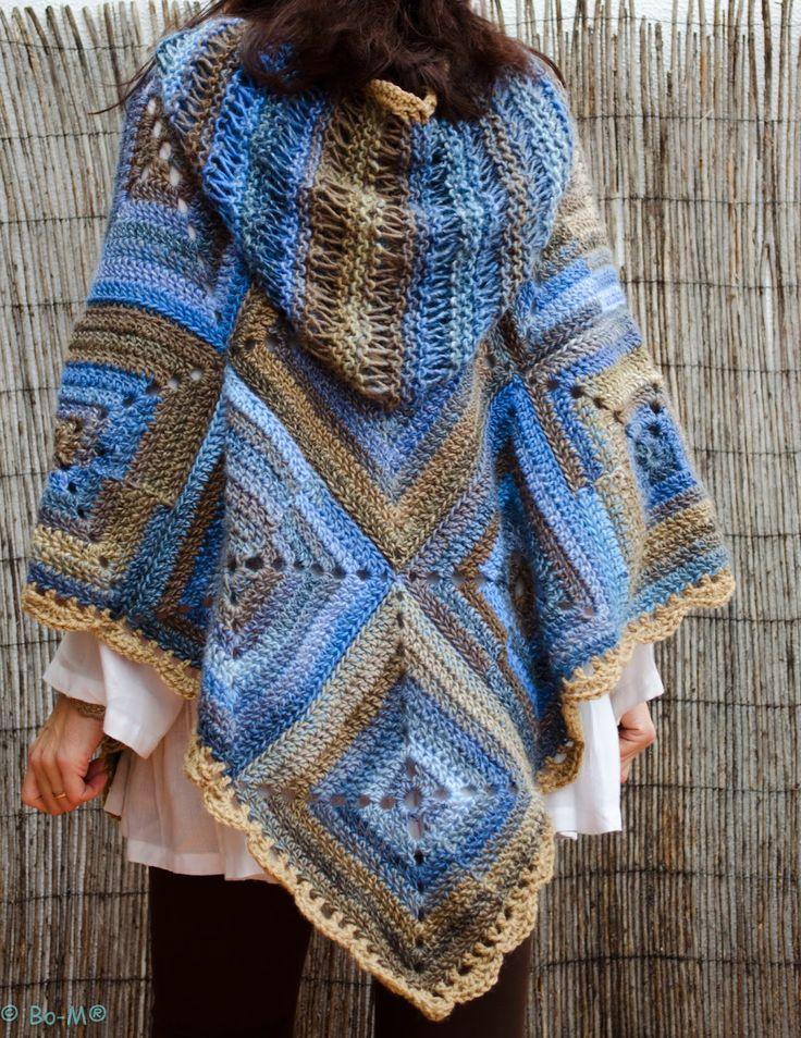 Bo-M.  http://bo-m.blogspot.com.es.  Crochet poncho.  Can't find pattern