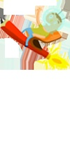 Ilustración de lápiz cohete realizada para la página web de la agencia por Oscar Llorens. El trabajo completo se puede ver en www.estudioec.com