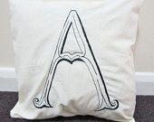 Monogramma cuscino/lettera A cuscino/personalizzata regalo/ricamato cuscino/Throw cuscino copertina/Home Decor/casalinghi