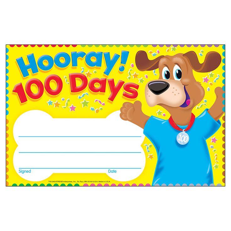 HOORAY 100 DAYS HAPPY HOUND