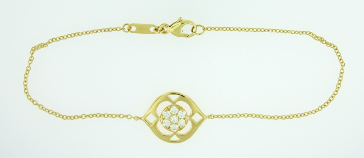 0.25ctw Pave Hearts on Fire Diamond Copley 18K Yellow Gold Bracelet