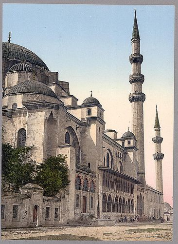 "İstanbul-Süleymaniye Camii (mosque), Constantinople, Turkey, (LOC) via nevin kurtay  ""Preserve, reserve, serve; the life and times of istanbul at the heart of historical center."" www.armadaistanbul.com www.armadaistanbulculture.com"